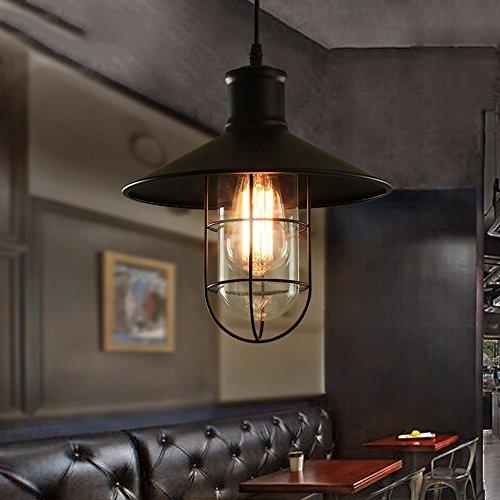 XHOPOS HOME Decke Pendelleuchten Einfache moderne Loft Lager Outdoor Bügeleisen Kunst industrielle Beleuchtung 36x30cm Hängende Deckenleuchte Wohnzimmer Schlafzimmer Kronleuchter