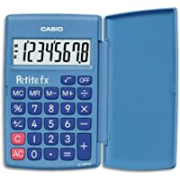 Casio Petite FX Calculatrice Scolaire 8 chiffres Bleu