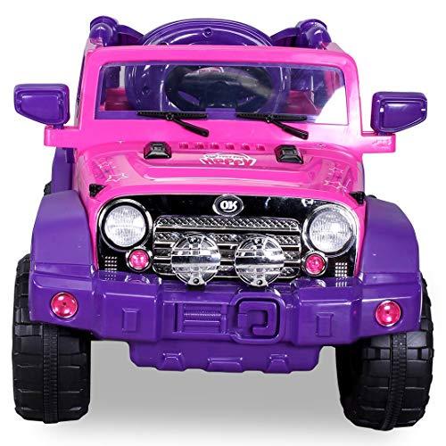 RC Auto kaufen Kinderauto Bild 3: Kinder Elektroauto Jeep Pink Girly JJ235 Elektro Kinderauto Kinderfahrzeug*