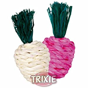 Trixie Straw Vegetables Pk2 Rabbit Guinea Pig Chew Toys from Trixie