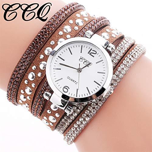 TianWlio Armbanduhren Damen Mode Frauen Art und Weise Beiläufige Analoge Quarz Frauen Rhinestone Uhr Armband Uhr
