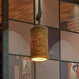 Sparkling FRD American-retro rope lights wrought iron vintage industrial chandelier bag shop and cafe bar restaurant lights,one-23*H130cm