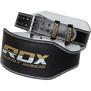 RDX Herren 6 Zoll Rindsleder Fitness Gewichthebergürtel Gürtel für Gewichtheber
