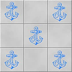 Baño /' anclas' Vinylworld de Vinilo azulejo de la pared dodoskinz x6