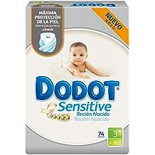 Dodot Sensitive - Pañales para bebé, talla 3, 74 unidades