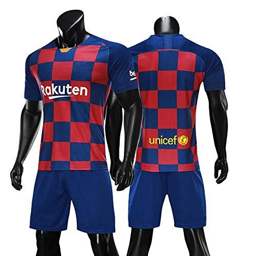 LIMQ Fußball T-Shirt Sportanzug Barcelona Trikot Nr. 10 Messi Fußball Sportbekleidung Fußball T-Shirt Passend Für Erwachsene Trikot Maßgeschneidert,M -