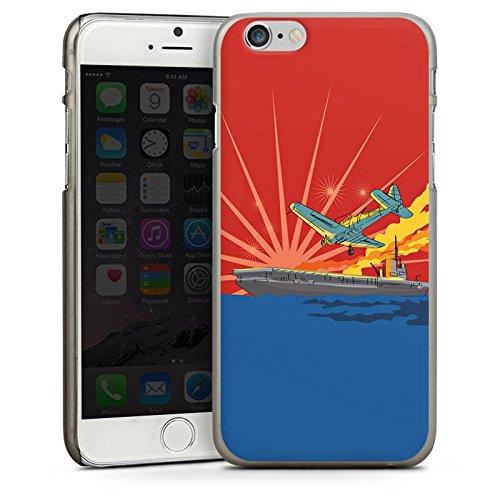Apple iPhone 5s Housse Étui Protection Coque Avion Bateau Mer CasDur anthracite clair
