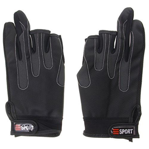 Wasserdicht Rutschfeste Anti-Rutsch 2-Finger Angelhandschuhe Handschuhe für Angeln Fischen Fahrrad Radsport