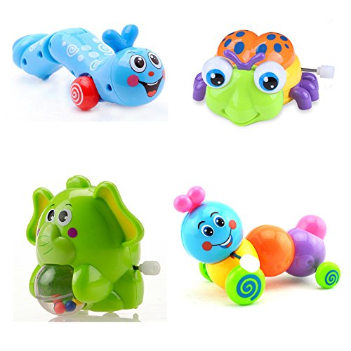 fajiabao-lovely-4pcs-wind-up-insects-clockwork-colorful-elephant-walking-caterpillar-beetle-developm