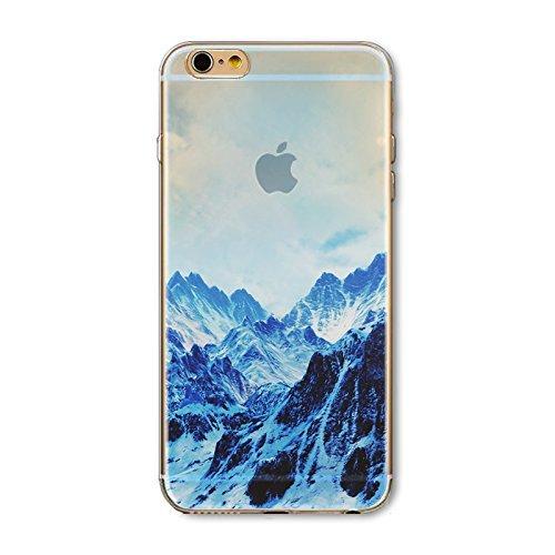 Coque iPhone 6 Plus 6s Plus Housse étui-Case Transparent Liquid Crystal en TPU Silicone Clair,Protection Ultra Mince Premium,Coque Prime pour iPhone 6 Plus 6s Plus-Paysage-style 16 3