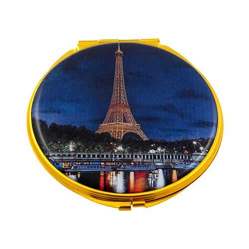 Souvenirs de France - Miroir Rond Tour Eiffel la Nuit