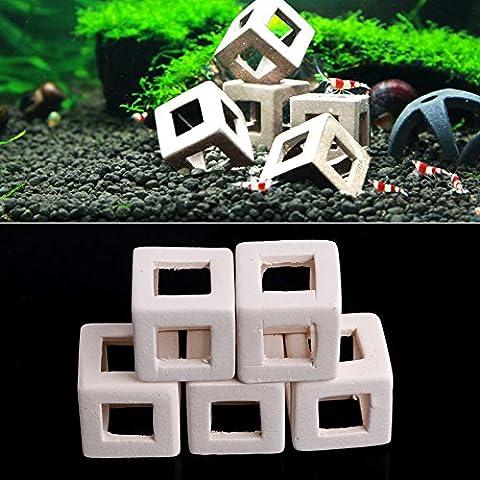 dairyshop Kleine Fische Garnelen Keramik Home Shelter Höhle Zucht für Aquarium fish-tank 1/5x, plastik, 5 (Spongebob Bilder)