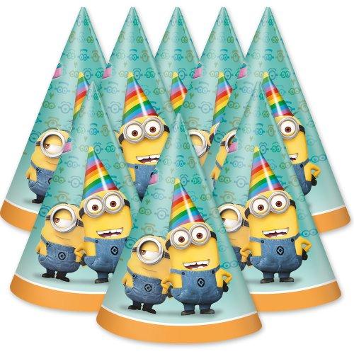 Minions - 8 Partyhüte / Partyhütchen - Ich einfach unverbesserlich - Geburtstag & Party (Minions Supplies Party)