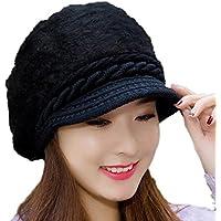 Leisial™ Caliente Gorro de Punto Crochet Boina de Mujeres Invierno Sombrero  Femenino de Viaje Invierno 2dacbce124e