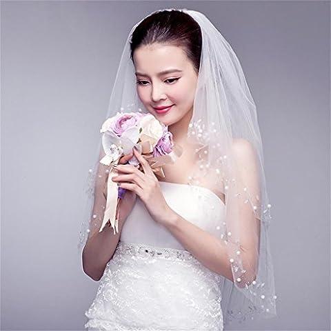 DELLT- Belle moderne mariée de voile coiffe coréenne mariée Ruansha simple voile de mariage de fuite Accessoires & longueur de plancher