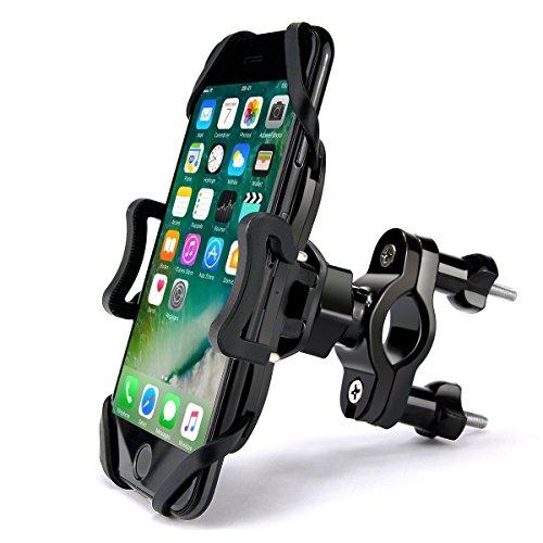 Ontseev Handyhalterung Fahrrad Smartphone Handyhalter 360 Grad Drehung Lenker Halterung Motorrad Universal Anti Shake Fahrradhalterung für Smartphone Größe von 3 6 Zoll für Samsung iPhone Iphone 6 Fahrrad Zubehör