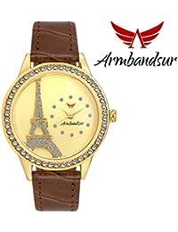 Armbandsur eiffel tower golden dial watch-ABS0037GBG