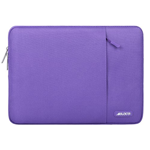 Mosiso 2017 / 2016 MacBook Pro 13 Zoll Hülle (A1706 / A1708) / Microsoft Neu Surface Pro 2017 / Surface Pro 4 / 3 Polyester Vertikale Stil Wasserabweisend Laptop Sleeve Laptophülle Schutzhülle Laptoptasche Notebooktasche Case Bag, Ultra Violet (Lila Notebooktasche Macbook Pro 13)