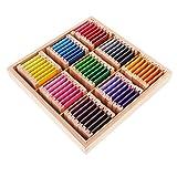 MagiDeal Montessori Sensorial Materiale Apprendimento Scatola con Pezzo Colorato di Legno Color Box Bambini Educational Giocattolo - Legna, Grande
