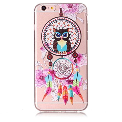 Fodlon® Chat Transparent Soft Case pour Apple iphone 6/6s Vent de hibou