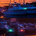 Fydun 12V LED Flush Mount Side Bow Navigation Signal Light 2Pcs 120° Lamp for Marine Boat Yacht Green 61.5lm&Red 19lm 13