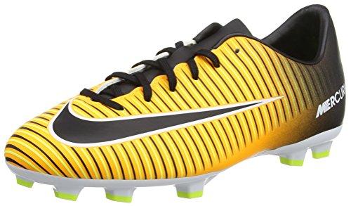Nike Jr Mercurial Victory Vi Fg, Botas de Fútbol Unisex Niños, Naranja (Laser Orange / Black / White / Volt), 37.5 EU