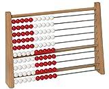 Betzold 85145 - Schüler-Rechenrahmen ZR 100 - Rechnen Lernen bis 100, Rechenschieber aus Holz, Abakus