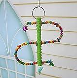 Perchoir en coton corde résistant à la morsure jouet suspendu escalier avec grelots échelle pour oiseaux perroquets perruches etc