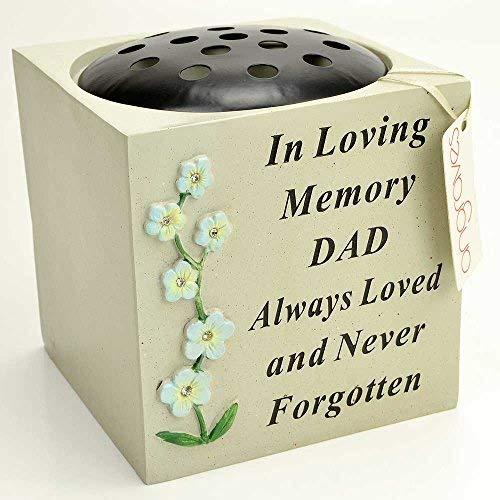 angraves Special Dad Diamant Blume Graveside Topf Grabvase Memorial Garden -