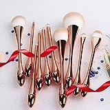 DISHIN super soft makeup brush,powder,blush foundation,contouring brush set of 10