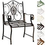 CLP Nostalgica sedia da giardino PUNJAB, ferro laccato, rétro, stile rustico, ca. 60 x 50 cm. bronzo immagine