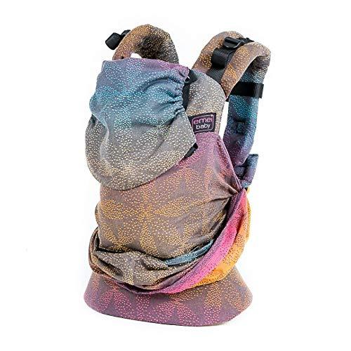Emeibaby Babytrage - Dunkel Baali Rainbow, Baby Size