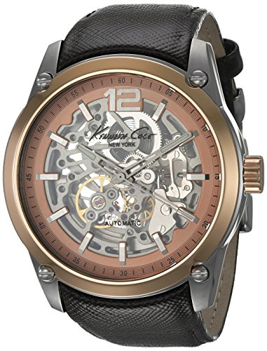 Kenneth Cole New York Men's KC8090 Analog Display Japanese Quartz Brown Watch