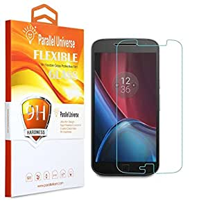 Parallel Universe Moto G4 Plus Tempered Glass Screen Protector Unbreakable Flexible Screen Guard- Transparent
