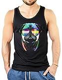 Pop Art Style Tank Top Neon DJ Mops Shirt 4 Heroes Beach Tanktop Herren Geburtstag Geschenk geil bedruckt