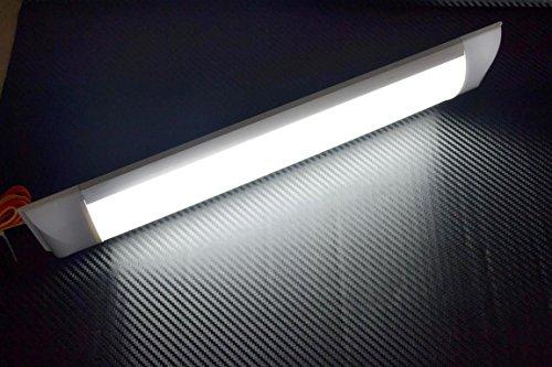 Preisvergleich Produktbild 1 x LED 12 V Innen Bright Light Lampe 370 mm für Auto Van Bus Caravan SUV Truck Croc Clips