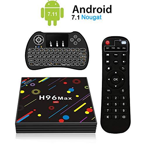 H96 Max Android 7.1 TV Box [4GB/32GB/4K] RK3328 Quad