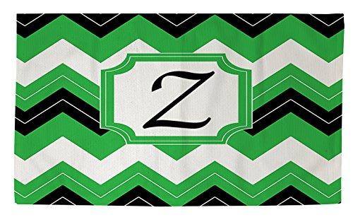 Manuelle holzverarbeiter & Weavers Dobby Bad Teppich, 4von druckknopfstiel, Monogramm Buchstabe Z, schwarz Chevron -