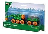 Brio 33698 - Grüner Kranwagen mit Anhänger und Fracht