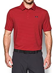 Under Armour Playoff–Camisa de Polo para hombre, color Red/Dkteal, tamaño large