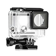 L'offerta riguarda una custodia impermeabile trasparente, appositamente progettata per le videocamere GoPro Hero 4e Hero 3+ per sport e attività all'aperto. Grazie a questa custodia impermeabile, è possibile utilizzare perfettamente la fotoc...