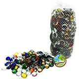 Day Glass Decoration Pebbles/Stones Colourful Marbles Vase Fillers For Home Decoration, Garden And Glass Pebbles For Fish Substrate Aquarium For Fish Tank (200g, Multi Colorful)