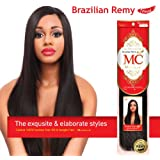 """Michelle Human Hair Blend Weave Brazilian Remy Touch Yaki 18"""" More Colos (18"""", P4/27)"""