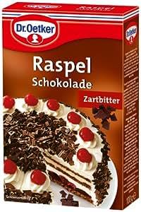Dr. Oetker Raspel Schokolade Zartbitter, 5er Pack (5 x 100 g)