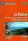Hikeline/ Wanderführer: La Palma. Die schönsten Küsten- und Bergtouren im grünen Wanderparadies der Kanarischen Inseln, 1 : 35 000, wasserfest/reißfest, GPS-Tracks Download -