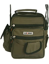 Handy Canvas Style Multi-Purpose Shoulder Bag / Cross Body Bag / Travel Bag (Black, Khaki, Green)