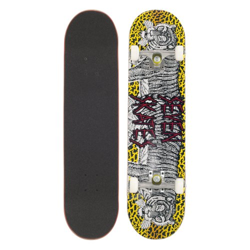 Seven Skate Skateboard Tiger, Grey/Yellow, 7.8 Zoll, SEVDEKTIGE