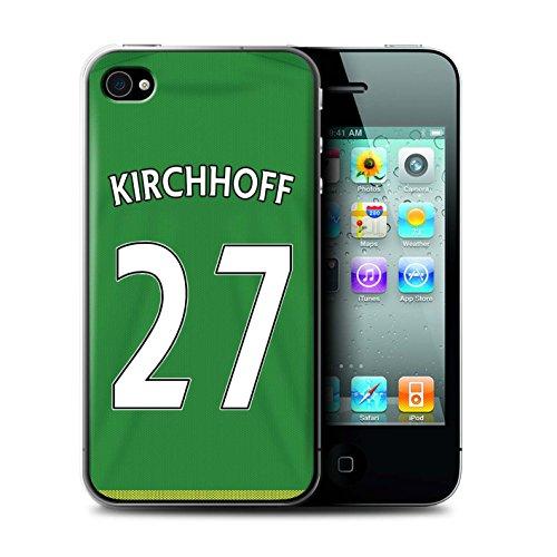 Officiel Sunderland AFC Coque / Etui pour Apple iPhone 4/4S / Pack 24pcs Design / SAFC Maillot Extérieur 15/16 Collection Kirchhoff