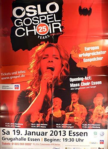 Oslo Gospel Choir - Essen 2013v - Veranstaltungs-Poster A1-35