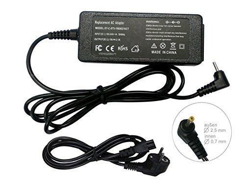 sunyear Netzteil Ladegerät für ASUS Eee PC Netbook R101d R101 R105d 1106HA 1108HA 1110HA 1201 1201 1005P 1004EH 40W 19V 2.1A AC Adapter mit Stecker 2.5x0.7mm
